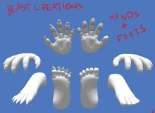 :Beast Creations: - hands and feets