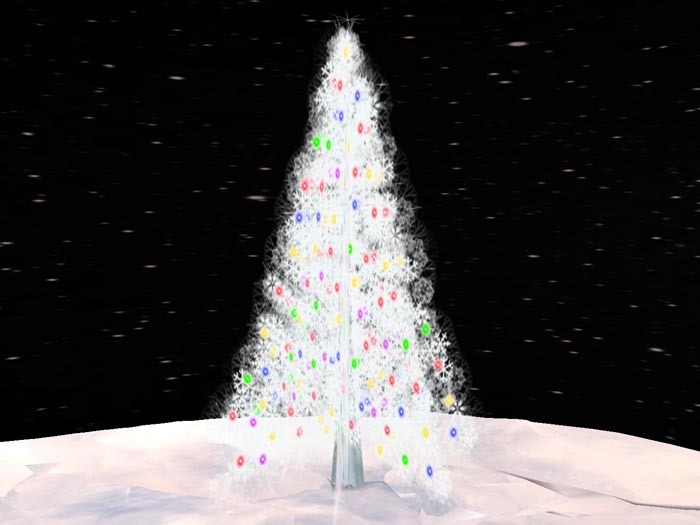 Christmastree Snow Colorful