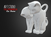 Art Studio.FULL PERM \\ Stone Cat Statue