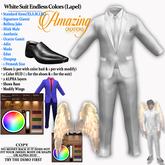 AmAzINg CrEaTiOnS White Suit Endless colors (Lapel)