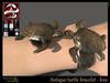 Antique turtle bracelet   kiss
