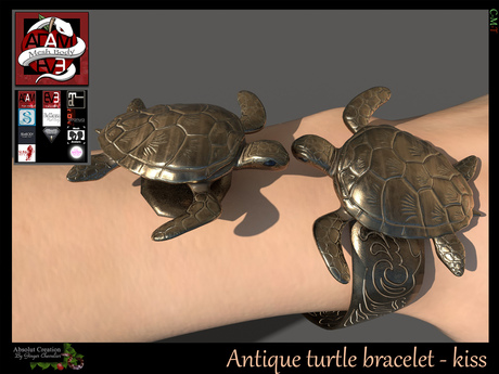 Antique turtle bracelet - kiss Jewelry