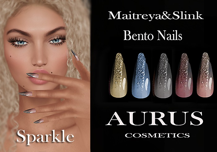 A U R U S - Sparkle Bento Nails -Maitreya & Slink