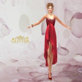 Glitter Red Passion Mesh Dress Group Gift