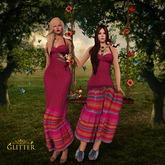 GLITTER Macy Boho Long Mesh Dress Group Gift
