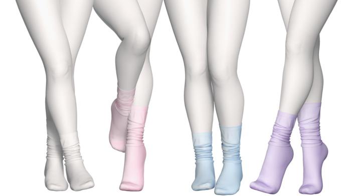Spoiled - Lazy Socks High & Flat ♥ 26 Color ♥ HUD Fatpack