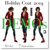 Blackburns Holiday Coat 2019 Scripted Designer Fashions DEMO
