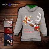 [Marquesse] Cowl Neck Pullover Already Christmas