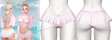 Rebelpill - Pastel Goth Skirt BabyPink