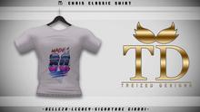 """TD"" - Chris Classic Shirt WHITE GRAPHIC V1 -"
