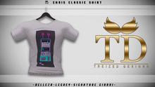 """TD"" - Chris Classic Shirt WHITE GRAPHIC V2 -"