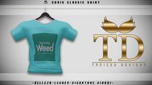 """TD"" - Chris Classic Shirt - TURQUIOSE GRAPHIC V2"