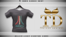 """TD"" - Chris Classic Shirt - BLACK GRAPHIC V1"
