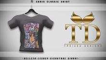 """TD"" - Chris Classic Shirt - BLACK GRAPHIC V2"