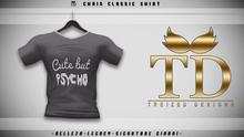 """TD"" - Chris Classic Shirt - BLACK GRAPHIC V3"