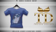 """TD"" - Chris Classic Shirt - BLUE GRAPHIC V1"