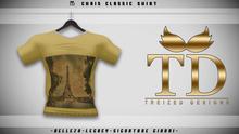 """TD"" - Chris Classic Shirt - YELLOW GRAPHIC V1"