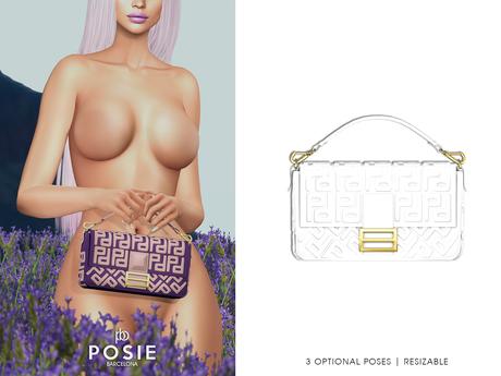 POSIE - Arlet Baguette Handbag .WHITE