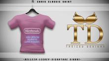 """""""TD"""" - Chris Classic Shirt - PINK GRAPHIC V1"""