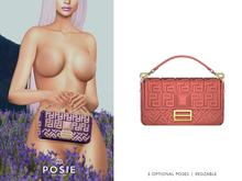 POSIE - Arlet Baguette Handbag .CORAL