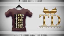 """""""TD"""" - Chris Classic Shirt - BROWN GRAPHIC V1"""