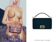 POSIE - Arlet Baguette Handbag .OCEAN