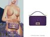 POSIE - Arlet Baguette Handbag .EGGPLANT