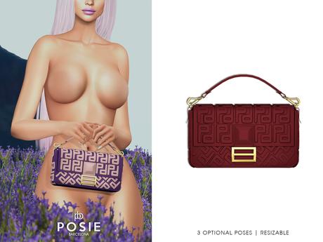 POSIE - Arlet Baguette Handbag .BURGUNDY