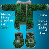 Miss Ing's Dinkie Snowflake Set Green