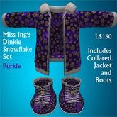Miss Ing's Dinkie Snowflake Set  Purkle Boxed
