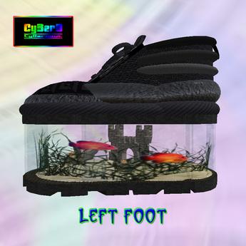 Fishtank Platform Shoes (Black