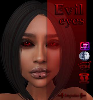 =Impulse= Evil Eyes Red (Catwa, Genus, Omega applier, Classic Avatar)