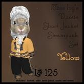 Miss Ing's Dinkie Short Jacket Steampunk Set Yellow