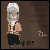 Miss Ing's Dinkie Short Jacket Steampunk Set Tan