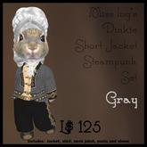 Miss Ing's Dinkie Short Jacket Steampunk Set Gray