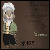 Miss Ing's Dinkie Short Jacket Steampunk Set Green
