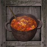 Medieval Cooking Pot with Chili