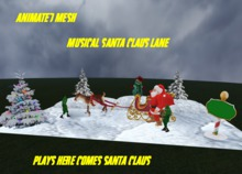 Musical santa claus lane