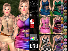V-Twins- Biker Clothes - Leverage Collection **MESH Outfit [ Maitreya Mesh Bodies Compatible]