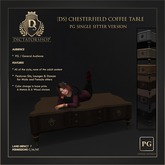 [Ds] Chesterfield Coffee Table - PG Single Sitter