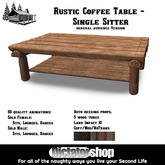[Ds] Rustic Coffee Table -  Single Sitter