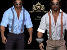!AEC! JAKE - Suspenders Outfit w/Open Shirt for AESTHETIC