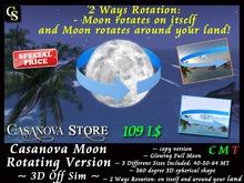 ★ SUPER PROMO ★ Casanova Mesh Off Sim Moon 3D - 2 Ways Rotating Smootly - High Resolution Realistic  Moon