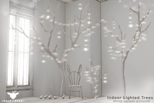 +Half-Deer+ Indoor Lighted Trees [White Set]