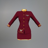 Wine Air Hostess Maitreya Uniform box