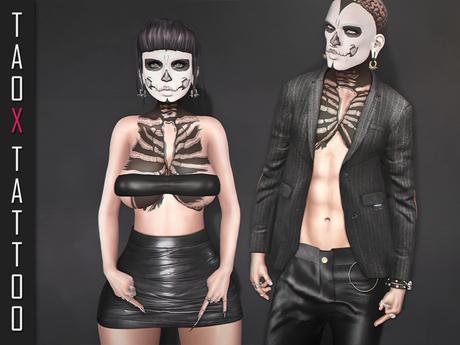 TAOX TaTToo Skeleton Baby & BoM [ Bake on Mesh ] & Appliers Omega Legacy Signature Maitreya Slink Belleza