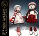 99L$ PROMO-ArisArisB&W~Snow Girl & Guy~CHRISTMAS AVATAR