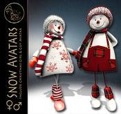 ArisArisB&W~CoAl46~Snow Girl & Guy~CHRISTMAS AVATAR