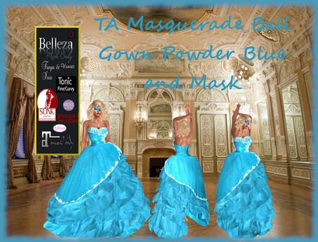 TA Masquerade Ball Gown Powder Blue