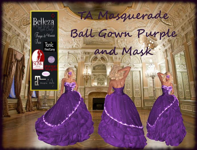 TA Masquerade Ball Gown Purple